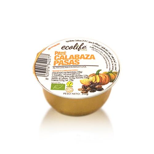 Paté de Calabaza y Pasas Bio (50 g) Ecolife