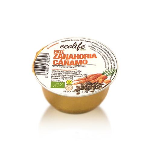 Paté de Zanahoria y Cáñamo Bio (50 g) Ecolife