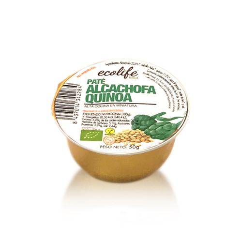 Paté de Alcachofa y Quinoa Bio (50 g) Ecolife