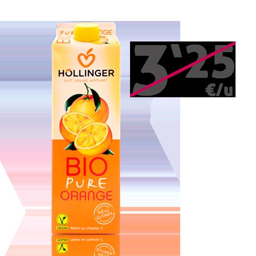Zumo de Naranja Bio 1l. Hollinger