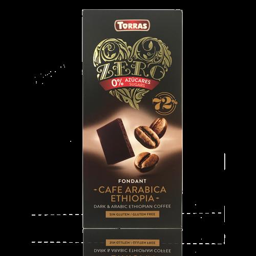 Xocolata Negra de Cafè Aràbic Ethiopia Zero (100 g) Torras