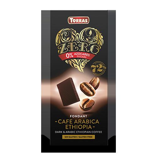 Chocolate Negro de Café Arabica Ethiopia Zero (100 g) Torras