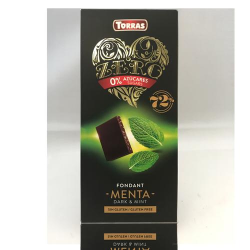Xocolata Negra de Menta Zero (100 g) Torras