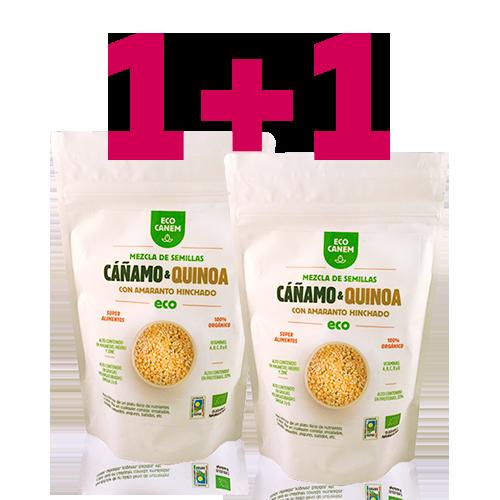 1+1 Llavors Cànem i Quinoa amb Amarant Inflat (200g) EcoCanem