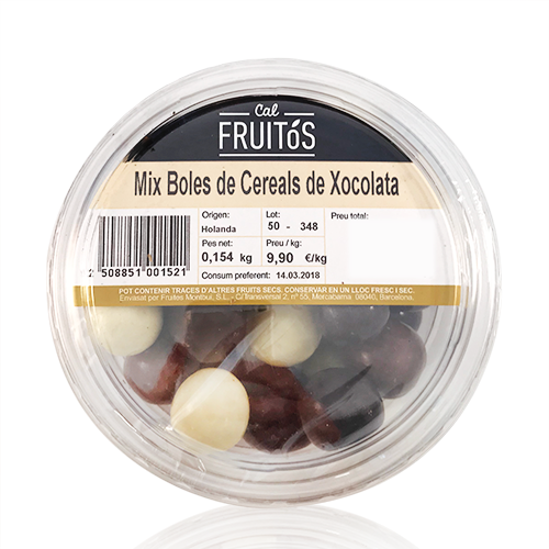 Mix de Bolas de Cereales de Chocolate (150g)