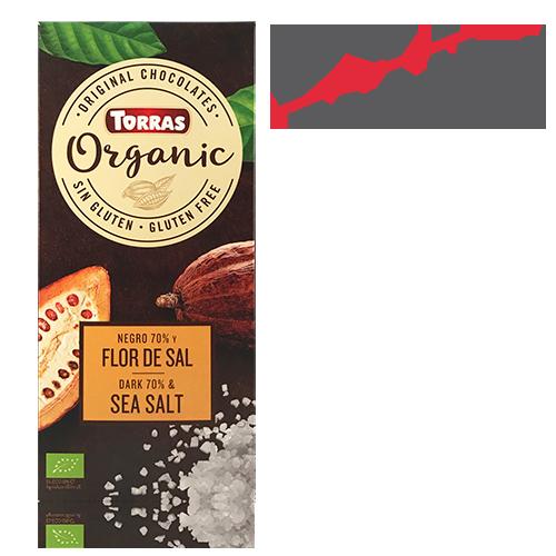 Chocolate Orgánico Negro 70% Flor de Sal (100 g) Torras