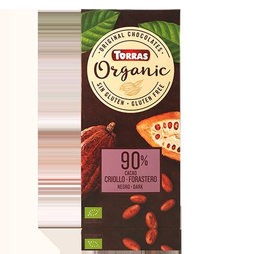 Xocolata Orgànic Negra 90% Cacao Criollo (100 g) Torras