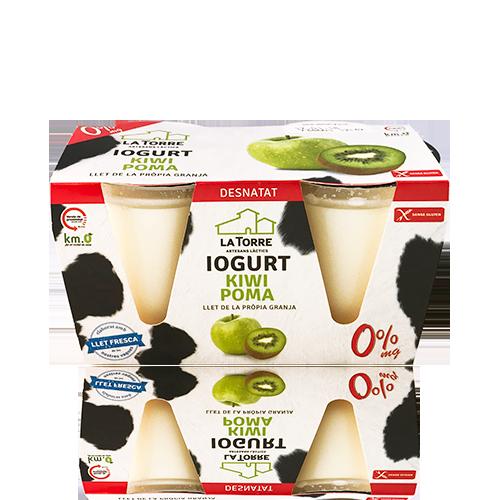 Iogurt Desnatat de Poma/Kiwi (2x125 g) La Torre