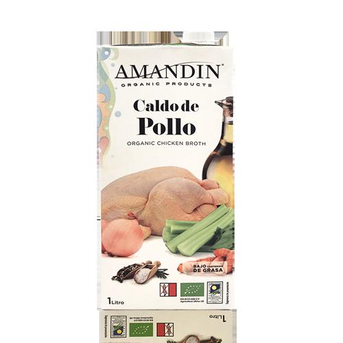 Caldo de Pollo Ecológico (1 l) Amandín