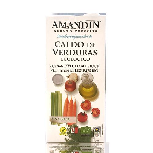 Caldo de Verdures Ecològic (1 l) Amandín