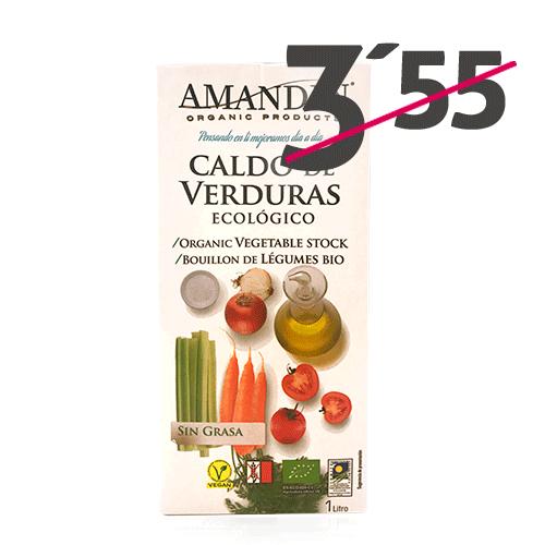 Caldo de Verduras Ecológico (1 l) Amandín