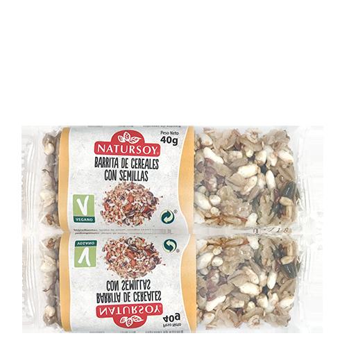 Barreta de Cereals amb Llavors (40 g) Natursoy