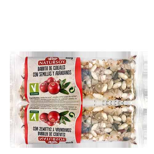 Barreta de Cereals amb Llavors i Nabius (40 g) Natursoy