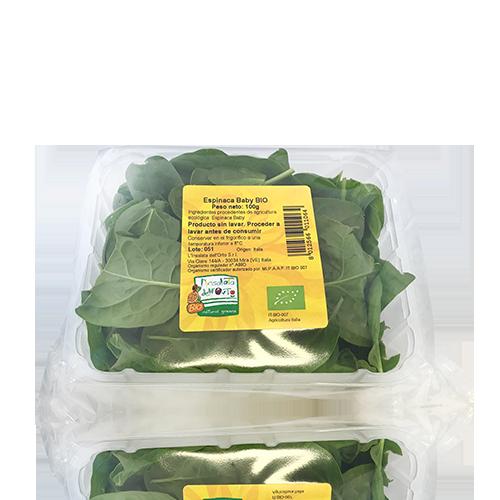 Espinacas Brotes Bandeja Bio (100g)