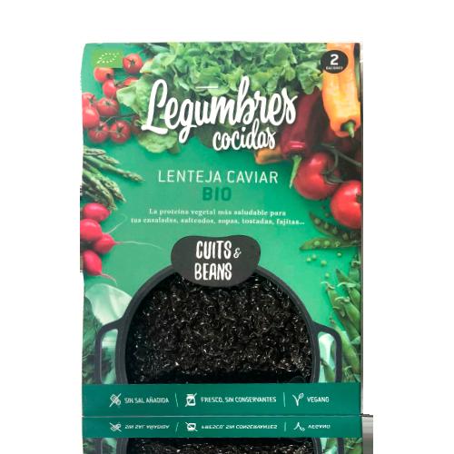 Lenteja Caviar Ecológica Cocida (200 g) Cuits & Beans