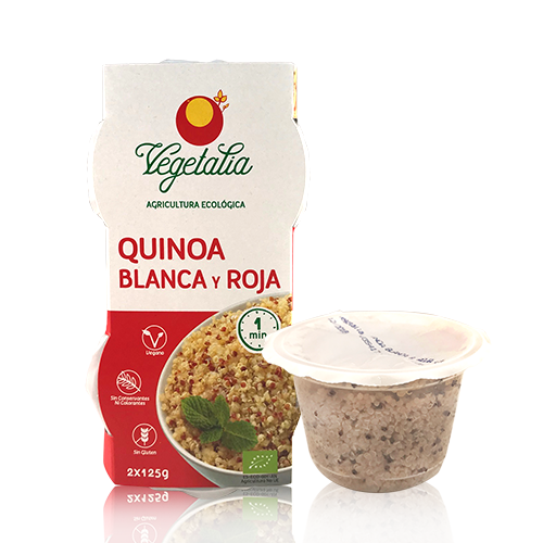 Quinoa Blanca i Vermella Ecològica 2x125 Vegetalia