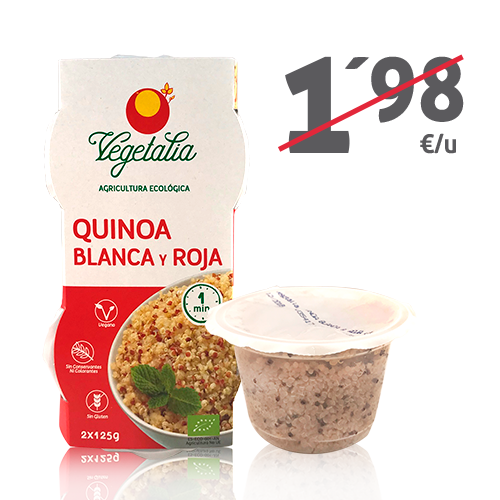 Quinoa Blanca i Vermella Ecològica (2x125 g) Vegetalia
