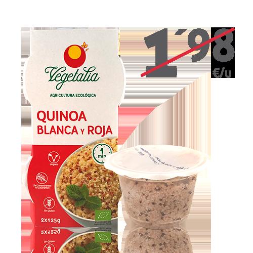 Quinoa Blanca y Roja Ecológica Vaso (2x125 g) Vegetalia