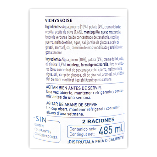 Crema Vichysoisse (485 ml) Ferrer