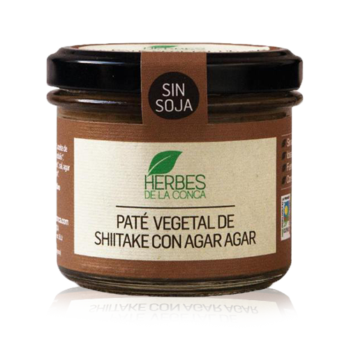 Paté vegetal de xiitake amb agar agar (110 g) Herbes de la Conca