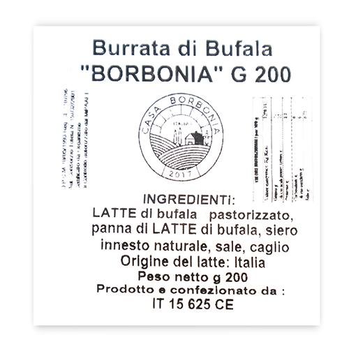 Burrata Búfala (200 g) Borbonia