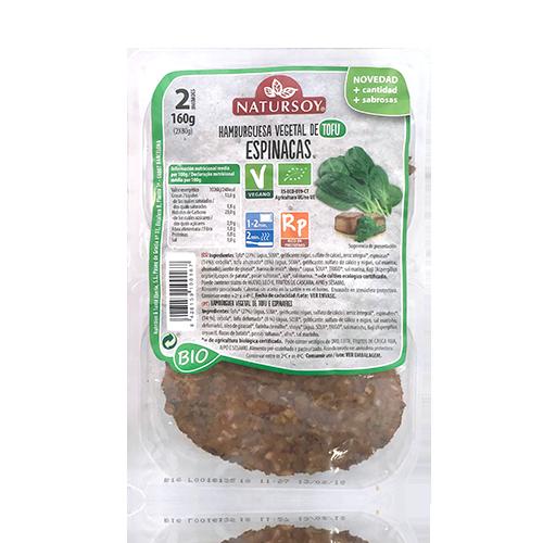 Hamb. Tofu i Espinacs (2u./150g) Natursoy