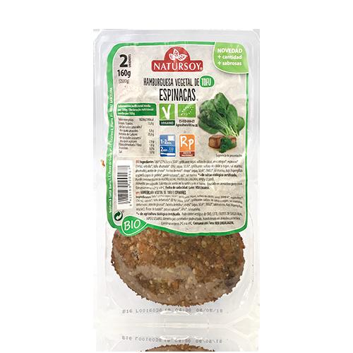 Hamb. Tofu i Espinacs (2u./150 g) Natursoy