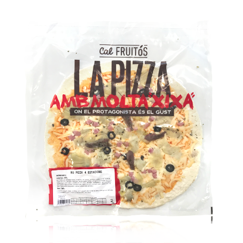 Pizza 4 estacions (370 g) Cal Fruitós