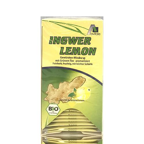 Té verde jengibre limón (20 bolsas) Avitae