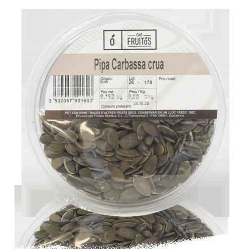 Pipa Calabaza Cruda pelada (160 g)