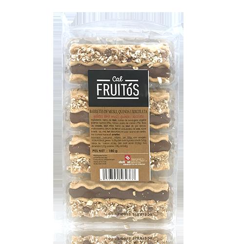 Barretes de muesli, quinoa i xocolata (180 g) Cal Fruitós