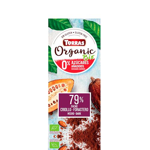 Xocolata Orgànic 79% Criollo Foraster (100 g) Torras