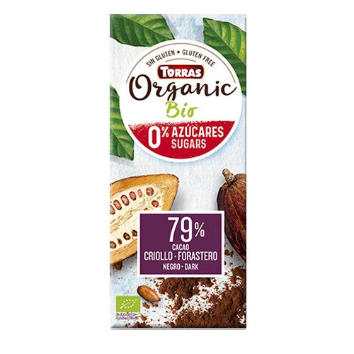 Chocolate Orgánico 79% Criollo forastero (100 g) Torras