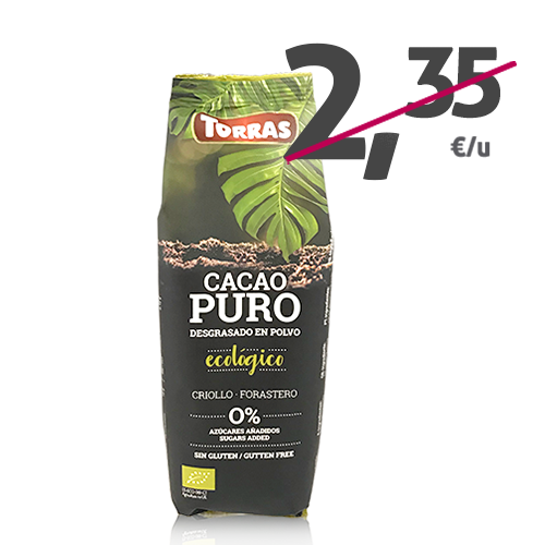 Cacao Puro Desgrasado en Polvo (150 g) Torras