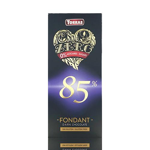 Chocolate Zero Negro 85% (100 g) Torras