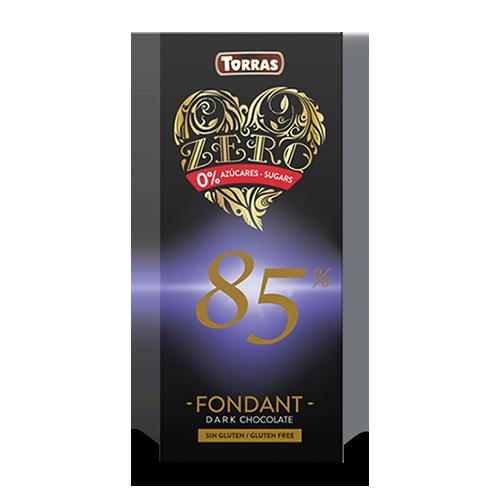 Xocolata Zero Negra 85% (100 g) Torras