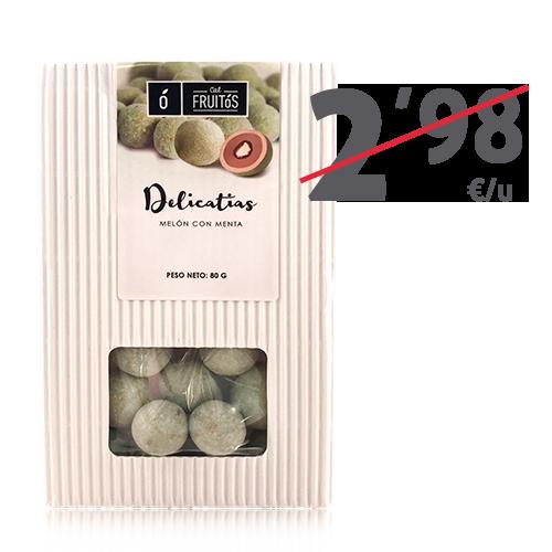 Delicatias de melón con menta (80 g) Cal Fruitós
