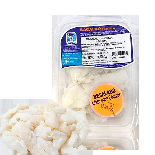 Bacallà Desalat Esqueixat (200 g) Alkorta