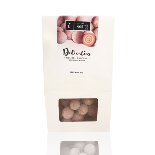 Delicatias de fresa con chocolate (80 g) Cal Fruitós