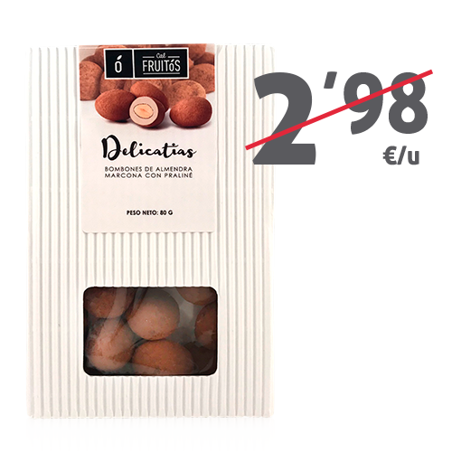 Delicatias de praliné (80 g) Cal Fruitós