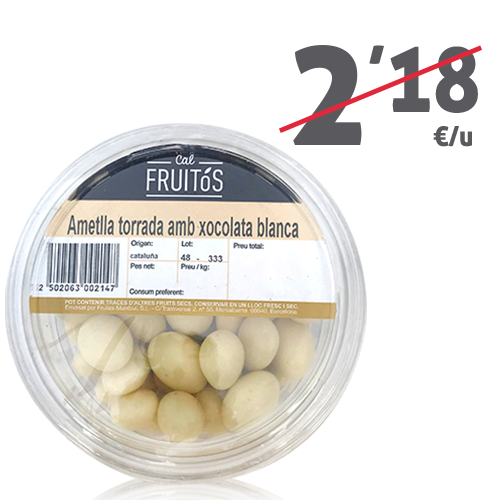 Almendra Tostada con chocolate blanco (150 g)