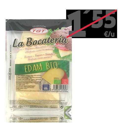 Queso Edam Bio Lonchas (100 g) La Bocatería