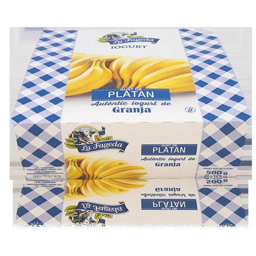 Iogurt Plàtan (125 g x4) La Fageda