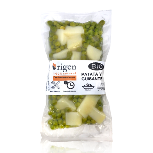 Patata i Pèsols Cuits Bio (300 g) Origen