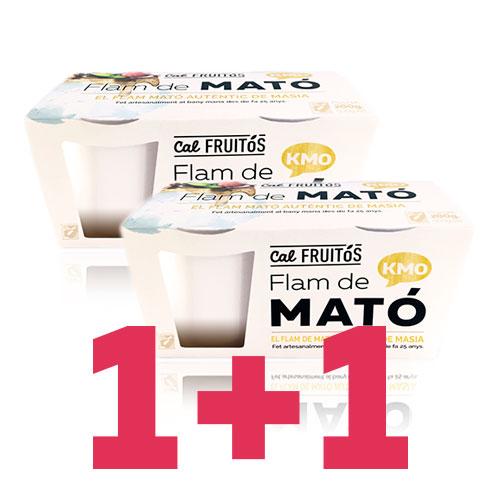 1+1 Flan Mató Cal Fruitós pack (2x105g)