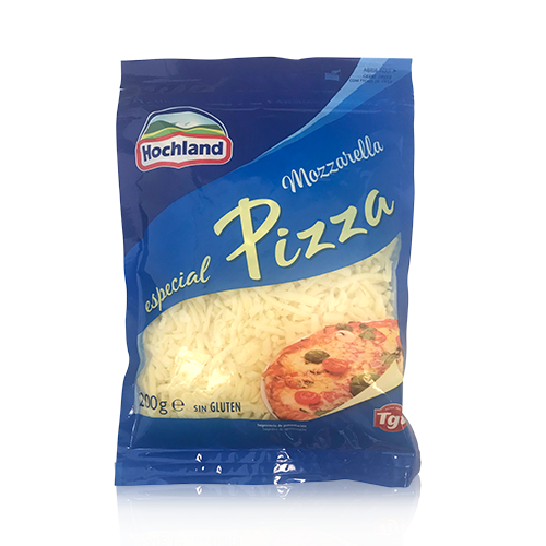 Formatge Ratllat Mozzarella per Pizza (200g) Hochland