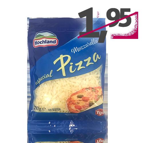 Formatge Ratllat Mozzarella per Pizza (200 g) Hochland