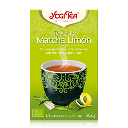 Infusió Te Verd Matcha i Llimona Yogi Tea