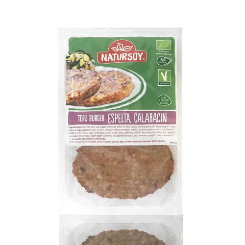 Hamburguesa de Tofu, Espelta y Calabacín (2x80 g) Natursoy