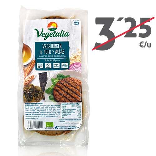 Vegeburguer Tofu y Algas (160g) Vegetalia